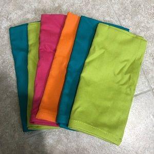 Set of 6 Multicolor 100% Cotton Napkins